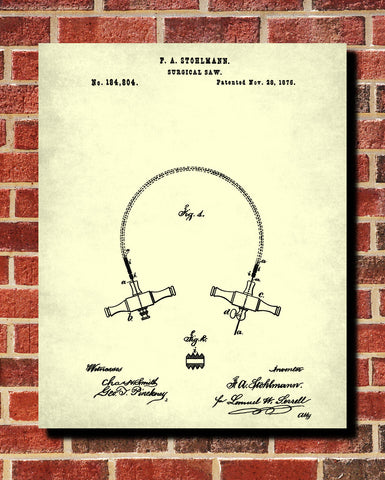 Medical Patent Poster Surgical Saw Wall Art Print - OnTrendAndFab