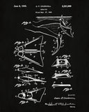 Swim Fins Patent Print Diving Blueprint Sports Poster - OnTrendAndFab