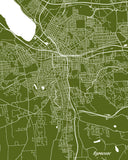 Syracuse City Street Map Print Feature Wall Art Poster