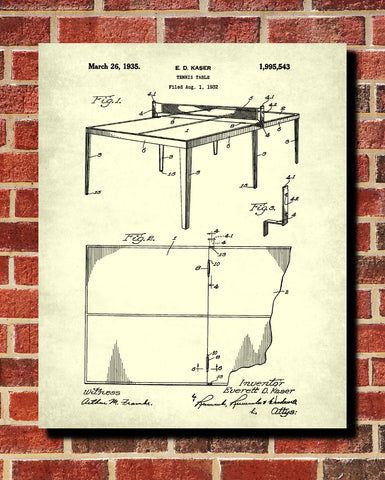 Table Tennis Patent Print Games Blueprint Sports Poster - OnTrendAndFab