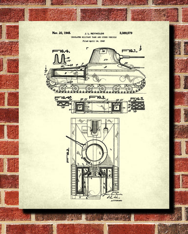 Tank Patent Print Weapons Blueprint Military Poster - OnTrendAndFab