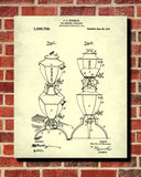 Tea Patent Print Brewing Blueprint Cafe Kitchen Poster - OnTrendAndFab