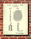 Tennis Racket Patent Print Sports Blueprint Poster - OnTrendAndFab