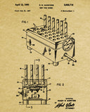 Laboratory Equipment Patent, Science Poster, Test Tubes Print