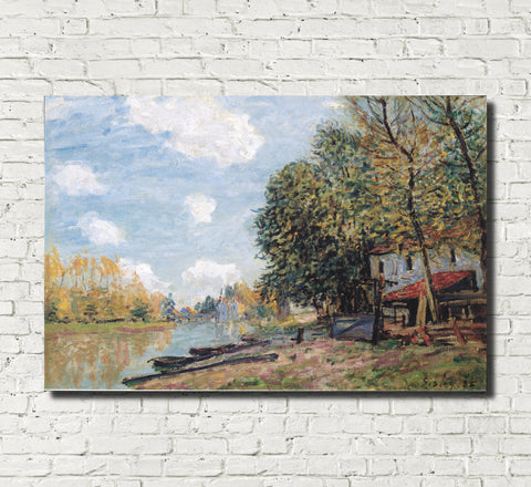 Alfred Sisley Fine Art Print Banks of the Loing Moret Impressionist Painting