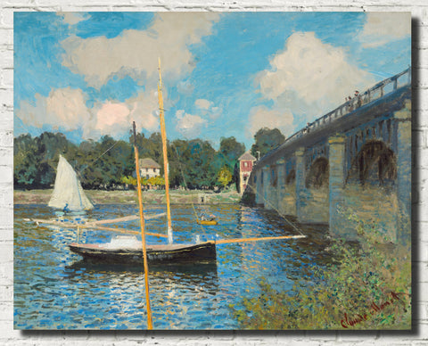 Claude Monet Fine Art Print, The Bridge at Argenteuil