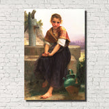 William-Adolphe Bouguereau, Old Masters Figure Print : Broken Pitcher