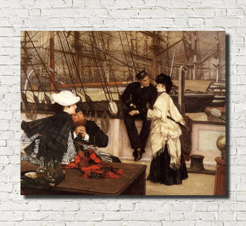 James Tissot Fine Art Print: The Captain and The Mate