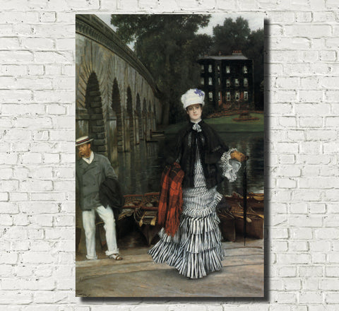 James Tissot Fine Art Print: Return from the Boating Trip