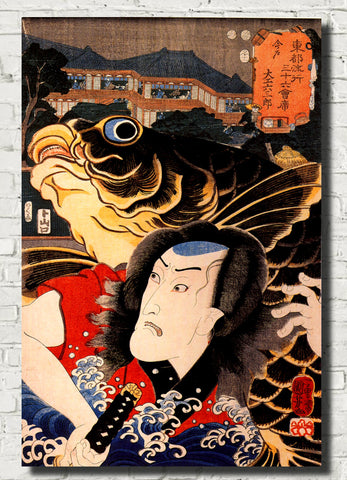Utagawa Kuniyoshi Japanese Fine Art Print, A Kabuki Actor Illustration
