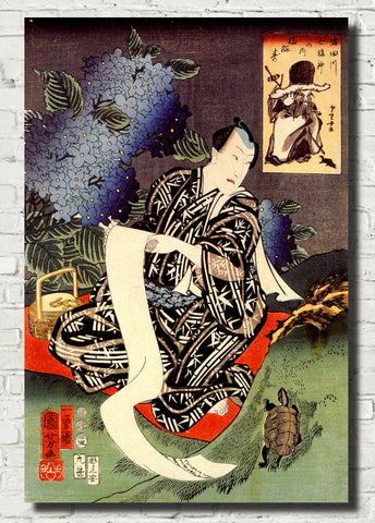 Utagawa Kuniyoshi Fine Art Print, Japanese Kabuki Actor Illustration