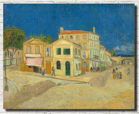 Vincent Van Gogh Fine Art Print, The Yellow House