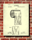 Toilet Paper Patent Print Bathroom Blueprint Wall Art Poster - OnTrendAndFab