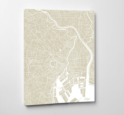 Tokyo City Street Map Print Feature Wall Art Poster