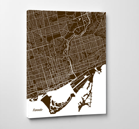 Toronto city street map print feature wall art poster ontrendandfab toronto city street map print feature wall art poster gumiabroncs Image collections