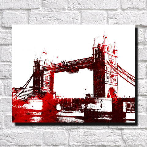 Tower Bridge London City Skyline Print Landscape Poster Feature Wall Art