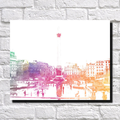 Trafalgar Square London City Skyline Print Landscape Poster Feature Wall Art