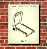Exercise Equipment Patent Treadmill Poster Gym Art Print