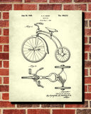Tricycle Patent Print Cycling Blueprint Poster - OnTrendAndFab