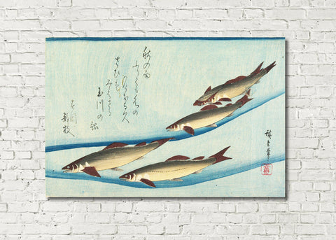 Fish Print Trout Andō Hiroshige, Japanese Art