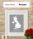 UK Custom Wedding Engagement Art Print - OnTrendAndFab