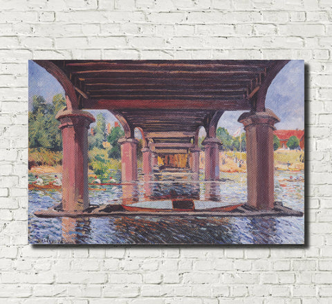 Alfred Sisley Fine Art Print Under the Bridge Hampton Court Impressionist Painting