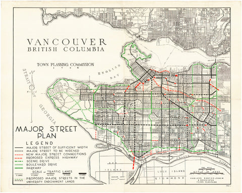 Vancouver City Street Map Print Vintage Poster Old Map as Art - OnTrendAndFab