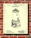 Vending Machine Patent Print Man Cave Poster Workshop Blueprint - OnTrendAndFab