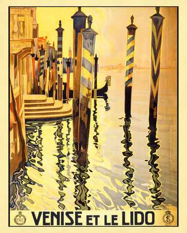 Venice Italy Print Vintage Travel Poster Art
