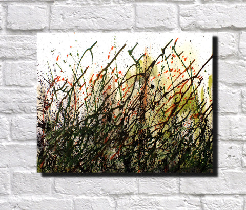 Original Painting James Lucas, Verdant Splash Landscape Abstract