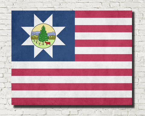 Vermont State Flag Print