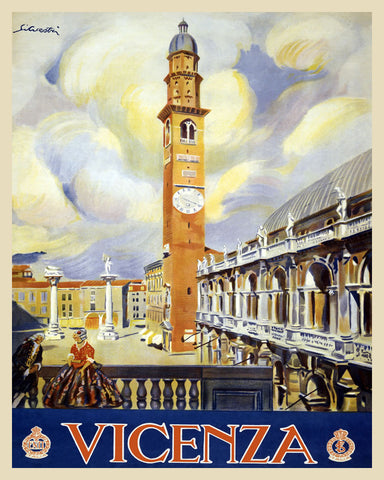 Vicenza Italy Print Vintage Travel Poster Art - OnTrendAndFab