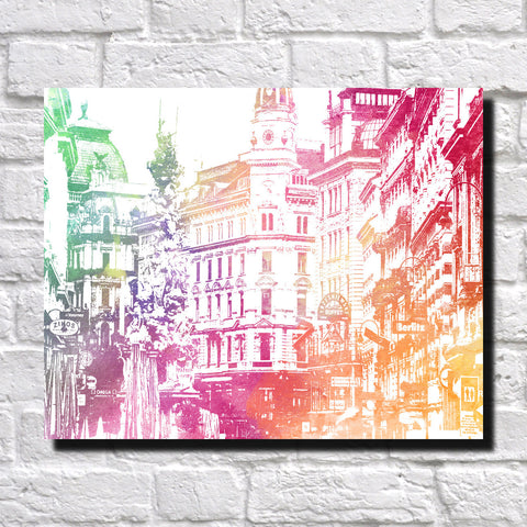 Vienna City Skyline Print Landscape Poster Feature Wall Art