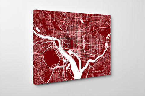Washington DC City Street Map Print Modern Art Poster