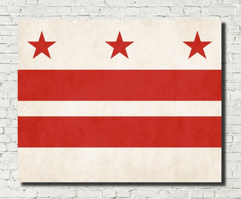 Washington DC Flag Print