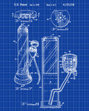 Cannabis Smoking Patent Print Bong Blueprint Poster