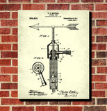Weather Vane Patent Print
