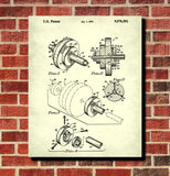 Weight Lifting Patent Print Poster Barbell Blueprint