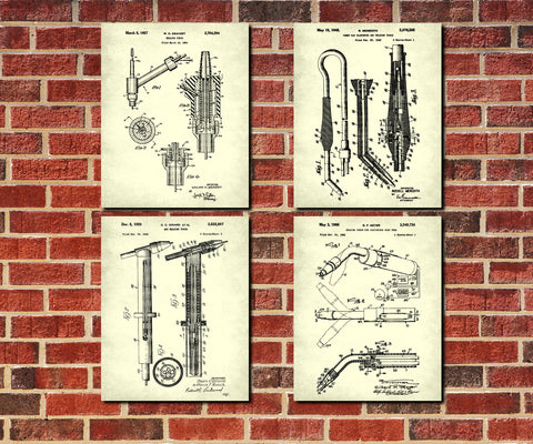 Welding Patent Prints Set 4 Welder Wall Art Posters