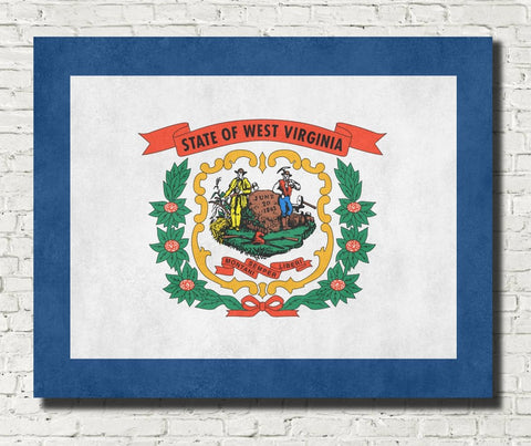West Virginia State Flag Print
