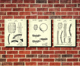 Whiskey Patent Prints Set 3 Cafe Posters Bar Wall Art