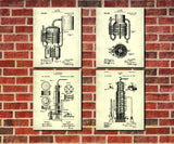 Whiskey Patent Prints Set 4 Cafe Posters Bar Wall Art