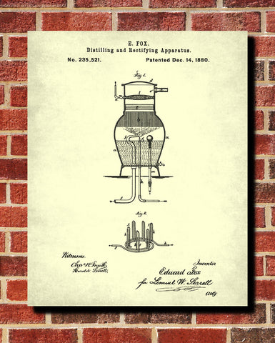 Whisky Pot Still Patent Moonshine Print Whiskey Poster - OnTrendAndFab