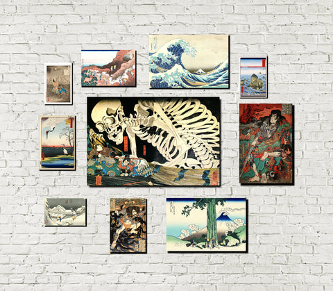 Japanese Themed Gallery Wall Art Print Set 10