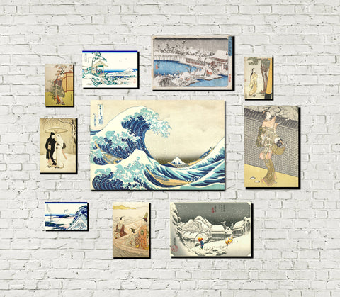 Japanese Themed Gallery Wall Art Print Set of 10