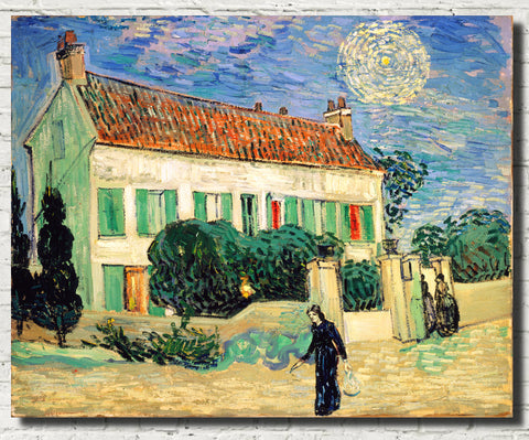 Vincent Van Gogh Fine Art Print, White House at Night