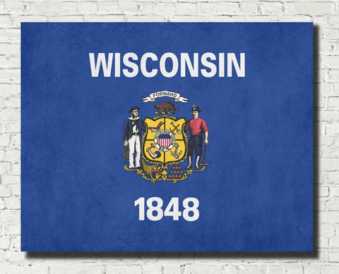 Wisconsin State Flag Print