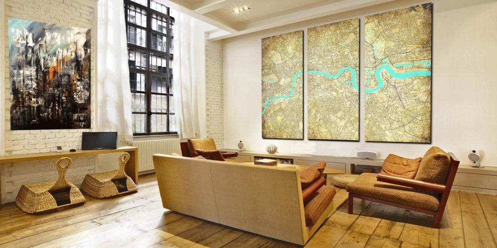 Custom canvas maps