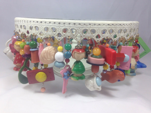 Cake Stand with Candy Colored Trinkets (lg)