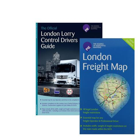Bundled - London Freight Driver Map (Route Planning & Folded for ease of use)